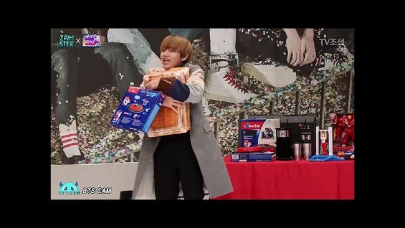[미공개X직캠] 정국, 뷔 과자 먹방48512;모님 선물 고르는 뷔 / BTS Fancam_eatingV's gifts for parents [아이4
