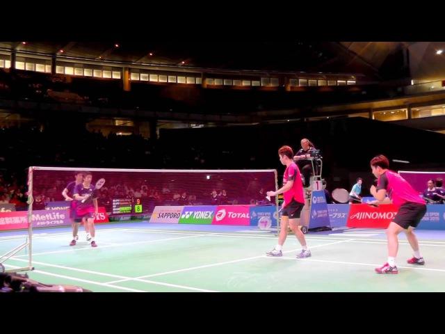 Nice Angle Badminton Hiroyuki Endo / Kenichi Hayakawa (JPN) VS Kim Gi Jung / Kim Sa Rang (