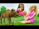Игры Барби Штеффи потерялась в лесу Видео для девочек с подружкаРита Видео пр