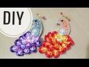 DIY || Cara Membuat Bros Burung Merak - Tutorial Merak Kanzashi