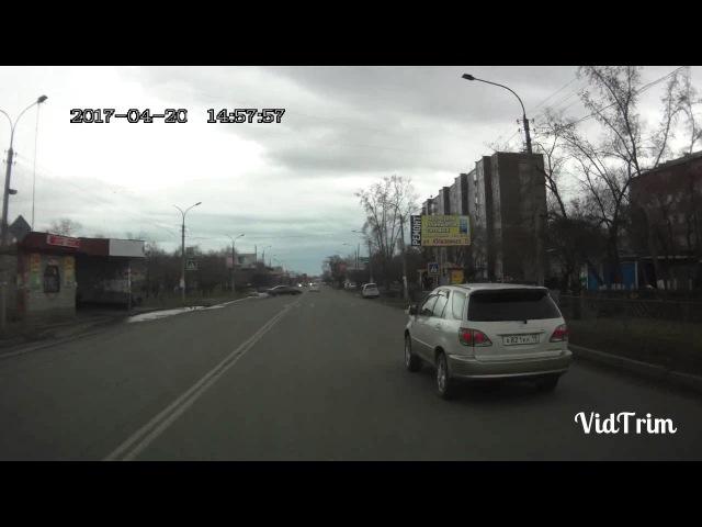 Двойная сплошная и попытка дрифта. Черногорск