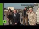 Poutine arrive à la base aérienne russe de Hmeimim