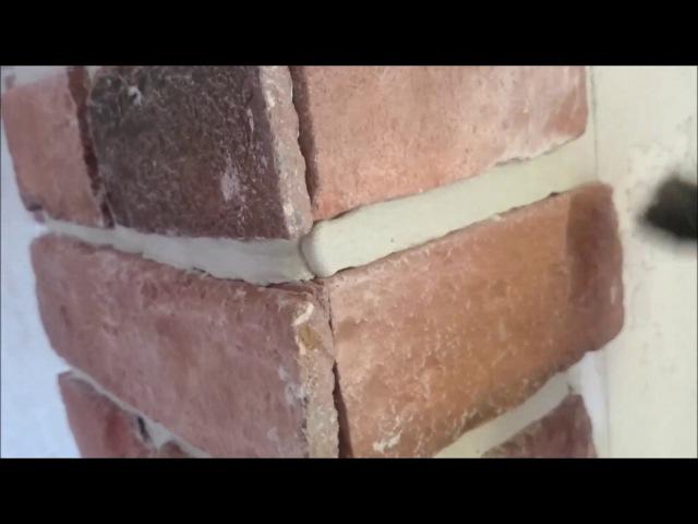Затирка швов декоративного камня