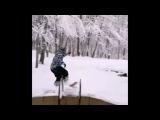 Мокрая тренировка сноубордистов на Холодных родниках в Ставрополе