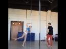 Dimitry Politov's flip by Elizaveta Shevtsova My Pole Space Instagram video