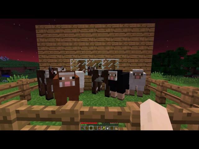 Как приручить животных (овцу и корову), посадить огород в майнкрафт - Minecraft выжива...