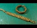 Браслет из паракорда Кобра с застежкой из Алмазного узла