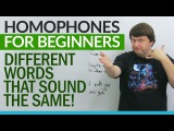 English Homophones for Beginners different words that sound the same!