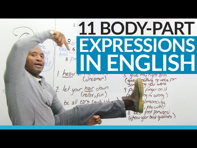 Learn English: Expressionsthat use body parts!