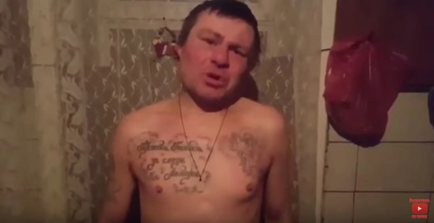 Алкоголика Беляша забрали в полицию после его видеообращения к Путину