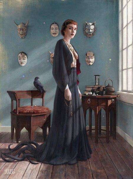 Tom Bagshaw: Большая часть моих работ сосредоточена на женской красоте, особенно портретная живопись, и по-настоящему завораживает меня внутренняя сила этой красоты. Меня никогда не