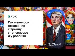 Как менялось отношение к трампу в телевизоре и у россиян