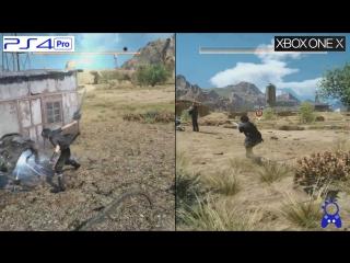 Сравнение графики Final Fantasy 15 на PS4 Pro и Xbox One X.