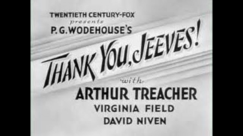 Thank You Jeeves 1936 Complete Film