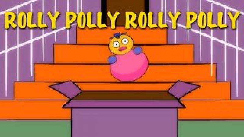 Rolly Polly Rolly Polly Nursery Rhymes With Lyrics Popular English Rhymes For Kids