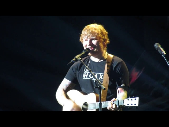 Ed Sheeran - The A Team / Happier / How Would You Feel Paean (Boston live 2017, TD Garden)