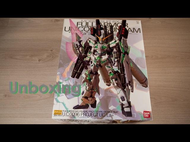 Unboxing - MG 1/100 RX-0 Full Armor Unicorn Ver.Ka Gundam [by Bandai]