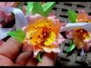 КАК ЖИВАЯ 1часть окрашивание лепестков акриловыми красками