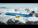 Icelandair раскрасила свой самолет под ледник