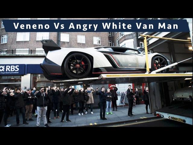 £6 Million Lamborghini Veneno Chaos Versus Angry White Van man in Central London