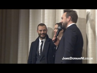 Jamie Dornan, Dakota, Erika on stage (Darker Premiere, Hamburg 7.02.17)