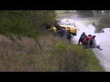 Ужасная авария произошла на ралли в италии. Болельщикам просто повезло!