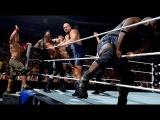 John Cena, Roman Reigns, Mark Henry &amp Big Show vs Seth Rollins &amp Wyatt Family 10 man tag team match