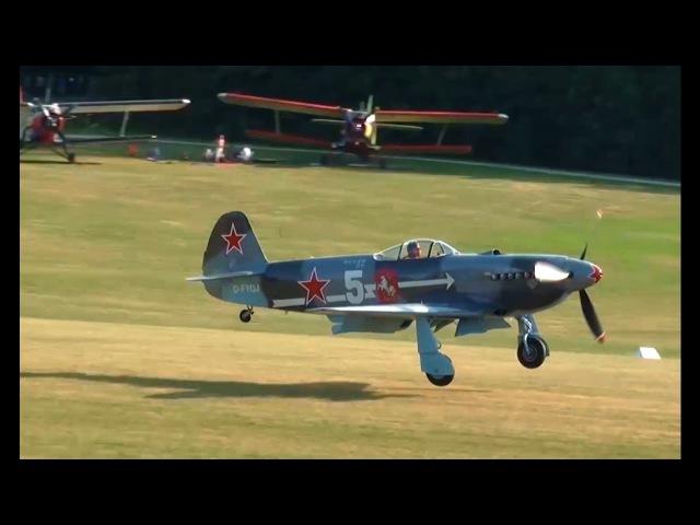 Yakovlev Yak-3 - D-FYAC D-FYGJ - takeoff, aerobatic display, landing - Hahnweide 2016