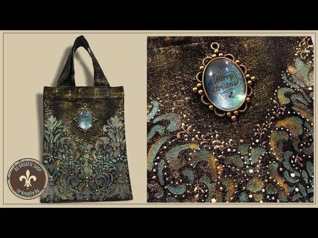 Bevásárlószatyor Glamour textilfestékkel - Tote bag with Glamour textile paint
