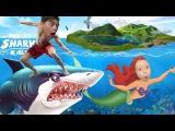 МИР ГОЛОДНОЙ АКУЛЫ Съешьте все, что есть в МЕГАЛАДОНИИ SVG атакует в море HUNGRY SHARK WORLD
