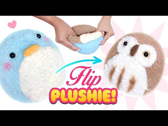 DIY VIRAL REVERSIBLE PLUSHIE Owl Penguin Sock Plush - Cute Budget Xmas Gift Ideas
