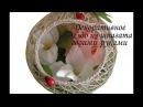 Декоративный шар гнездо из шпагата своими руками Сама Я mk