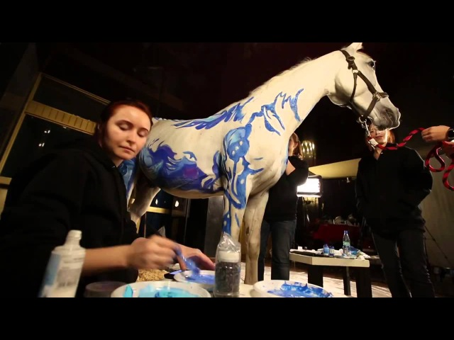 бодиарт на лошади прана