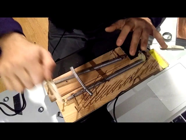 Acoustic Techno trance experiment - DIY springs, tines, screws and piezos instrument.