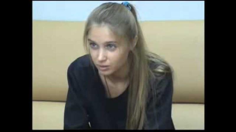 Анна Андрусенко на кастинге в сериал Закрытая школа