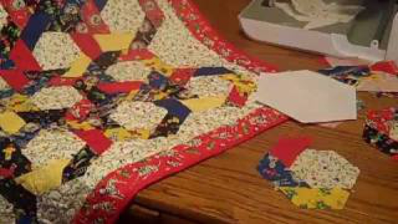 Accuquilt Go! Twirling Hexagon Baby Quilt