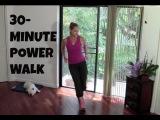 Indoor Walking Exercise - Full Length 30-Minute Power Walk (fat burning, walking workout)
