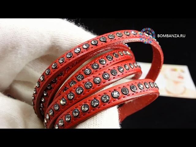 Кожаный браслет Qudo Deluxe S, красный, 121513 R. Элитная бижутерия из Германии