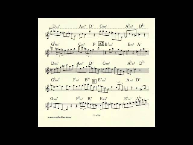 Remi Bolduc transcription Jerry Bergonzi solo on I Remember You смотреть онлайн без регистрации