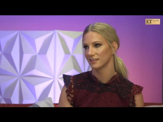 "Heather Morris talks about Lea Michele, Kevin McHale, and Naya Rivera on ""ET Live"" - May 2, 2017"