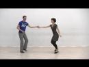 Видео-уроки Буги-вуги (Boogie-woogie). Beginners. Lesson 9. Sugar push (eng subs).