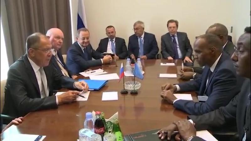 Встреча с премьер-министром Сомали, 19 сентября 2017 года