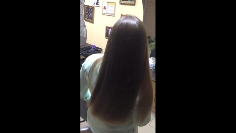 окрашивание OLLIN SILK TOUCH и кератиновое восстановление волос