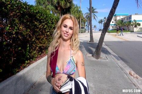 Blue eyed blonde with big boobs taking money shot after hardcore sex  306934