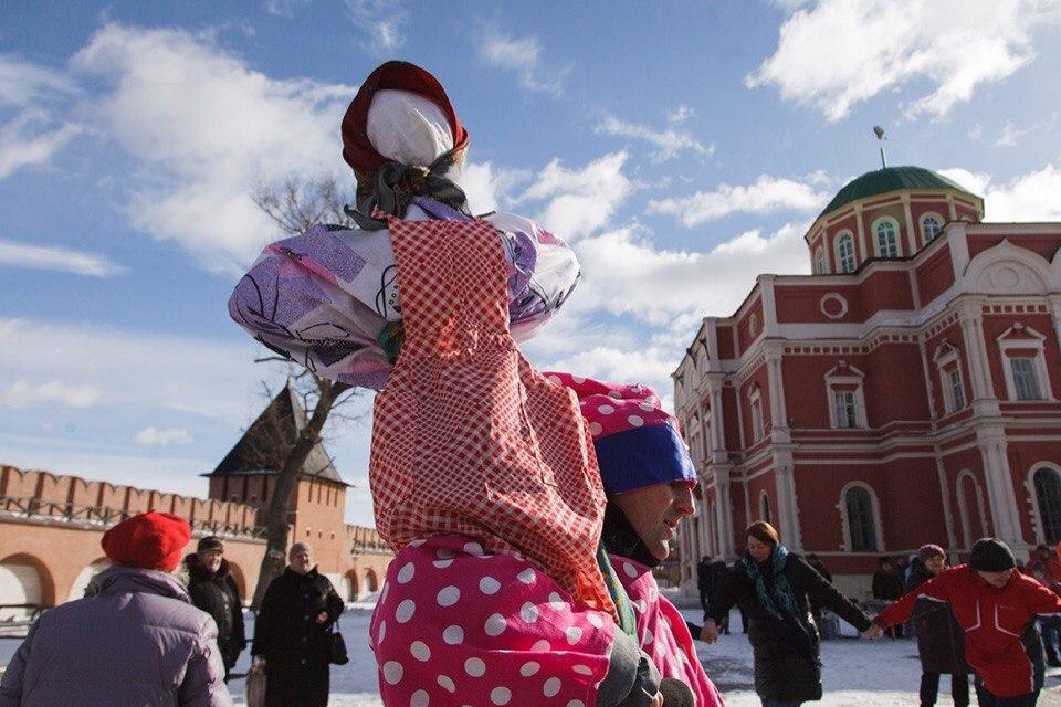 В Тульском кремле прошли масленичные гуляния