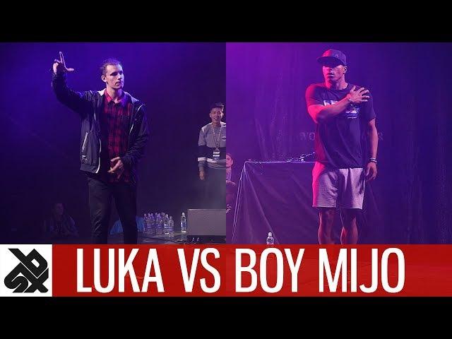 LUKA vs BOY MIJO feat. K-POM | Dance Battle To The Beatbox 2017 | SEMI FINAL | WBC X FPDC