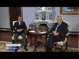 Милош Земан обсудил с Медведевым статью