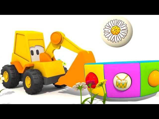 Развивающие мультики для детей: Эскаватор Мася и английский для детей. Цветы