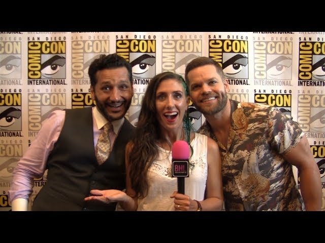 Cas Anvar Wes Chatham (The Expanse) at San Diego Comic-Con 2017.