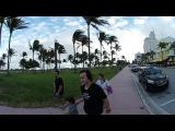 OCEAN DRIVE, MIAMI, VR 360 Video